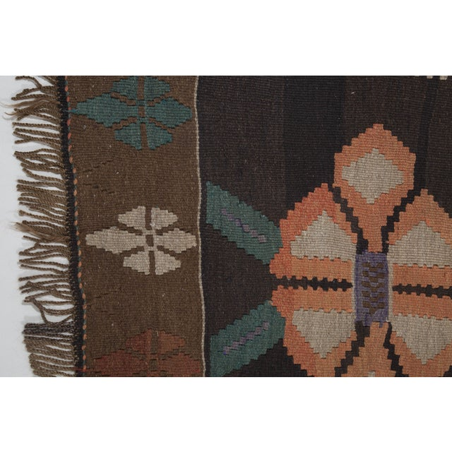 "Hand-Woven Turkish Kilim Rug - 6'7"" X 11'3"" - Image 2 of 10"