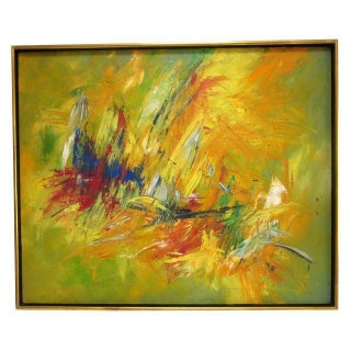 1960s Modernist Abstract Painting by Taberski