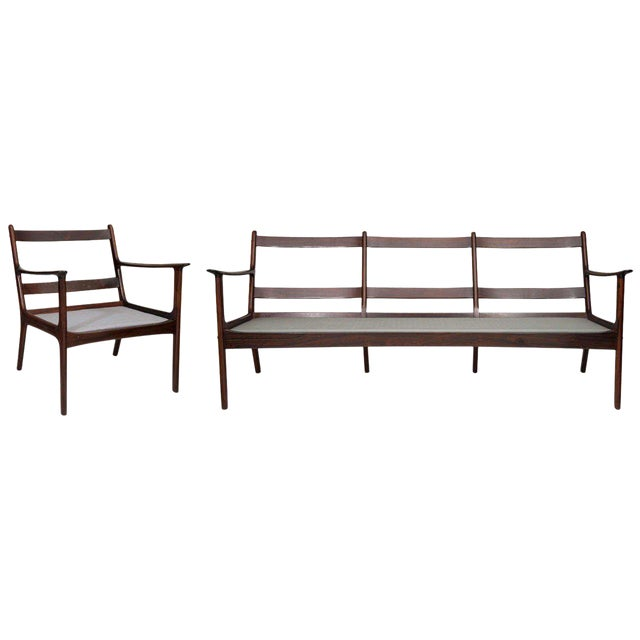 Ole Wanscher Rosewood Sofa and Chair Set - Image 1 of 10