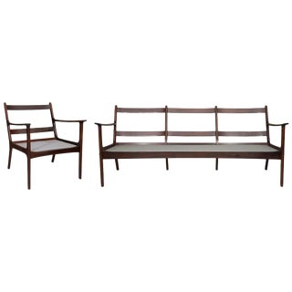 Ole Wanscher Rosewood Sofa and Chair Set