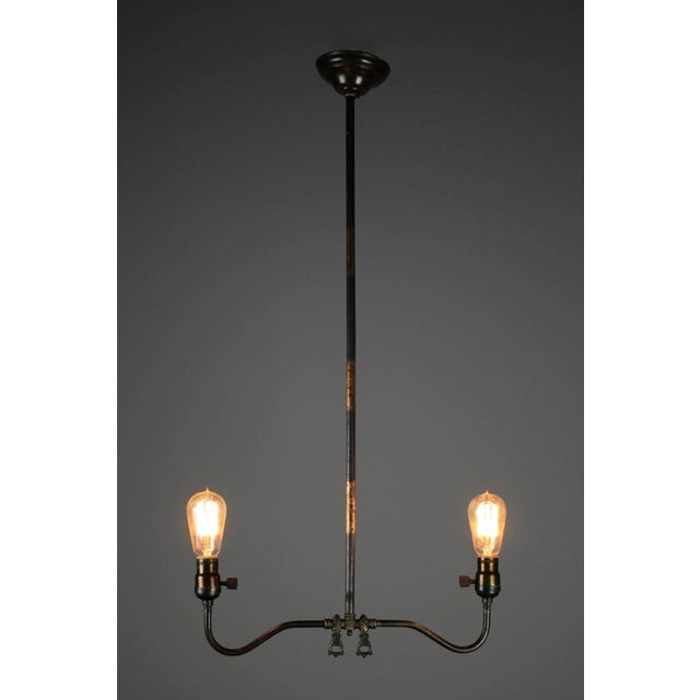 Industrial Converted Gas-Electric Double Pendant - Image 3 of 8