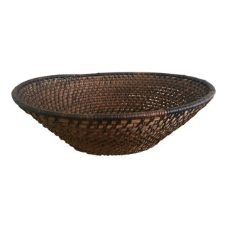Black & Brown African Woven Basket