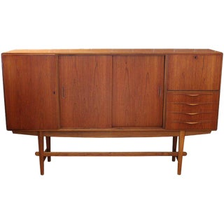 1950s Teak Sideboard by Illum Wikkelso for Holger Christiansen