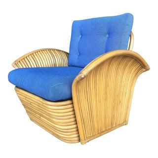 Vintage Rattan Art Deco Style Club Chair