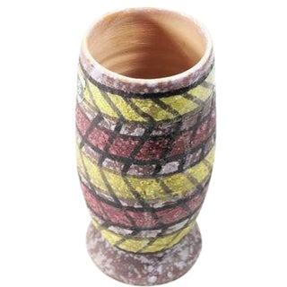 Italian Mid Century Modern Zig Zag Vase
