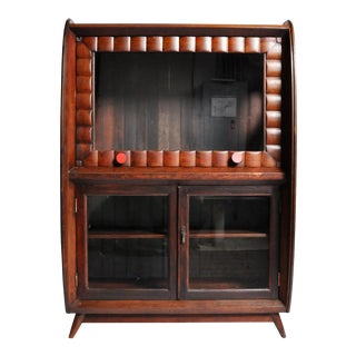 Mid-Century British Colonial Art Deco Cabinet