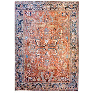 Exceptional Early 20th Century Heriz Rug