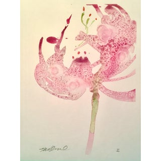 """Botanical Stargazing"" Original Watercolor"