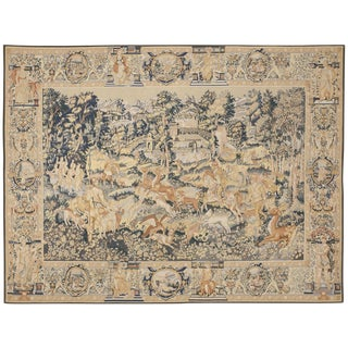 "Antique Chinese Aubusson Rug - 7'5"" x 9'8"""