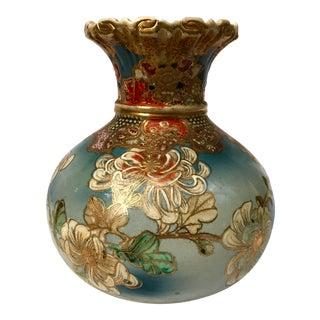 Mid 19th C. Victorian Japanese Satsuma Moriage Vase