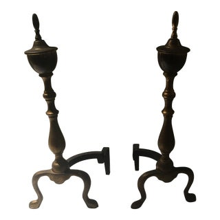 Vintage Brass Andirons