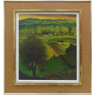 1950's Henri Therme French Landscape Oil Painting