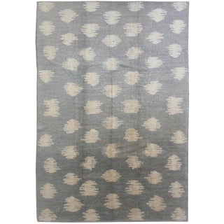 Aara Rugs Inc. Hand Knotted Ikat Rug - 9′1″ × 12′1″