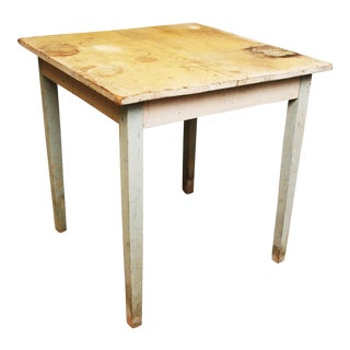1940s Vintage Shabby Chic Wood Farm Table