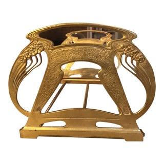1920s Art Nouveau Brass Expandable Book Rack