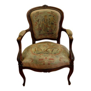 1920s French Needlepoint Armchair