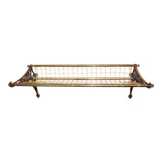 Vintage Pullman Railroad Brass Luggage Rack