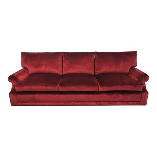 New J. F. Fitzgerald Custom Ruby Velvet Sofa