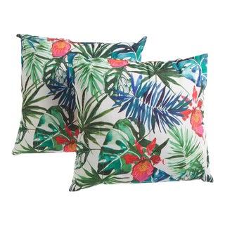Watercolor Palms Pillow Set a Pair