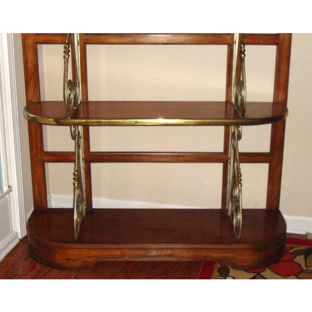 Vintage Brass Pecan Drexel Shelf - Image 8 of 8