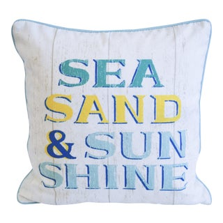 Blue & White Indoor/Outdoor Decorative Beach Pillow