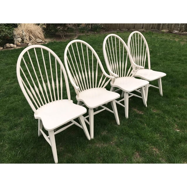 Farmhouse Windsor Chairs - Set of 4 - Image 3 of 9