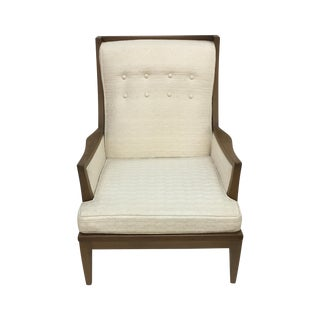 Upholstered Mid-Century Chair With Tufted Back