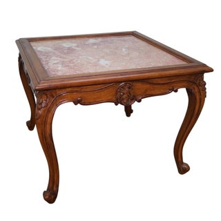 Danby Italian Walnut & Marble Coffee Table