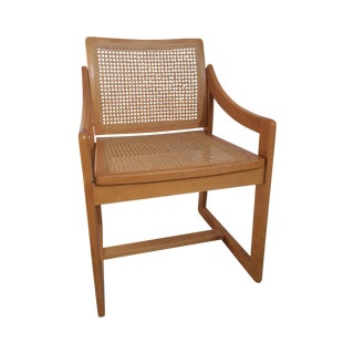 Blond Cained Arm Chair