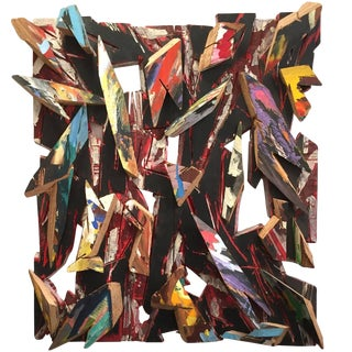 Charles Arnoldi, 1988 Large Acrylic and Wood Construction