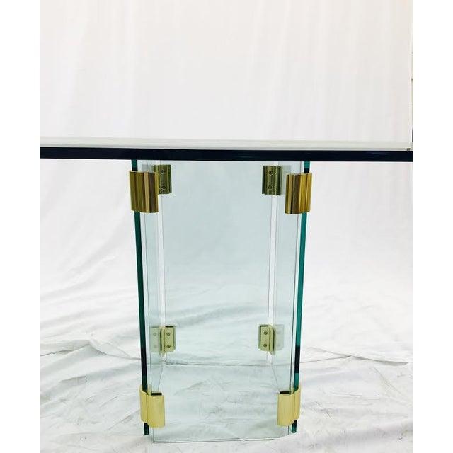 Mid Century Modern Glass Brass Dining Table Chairish