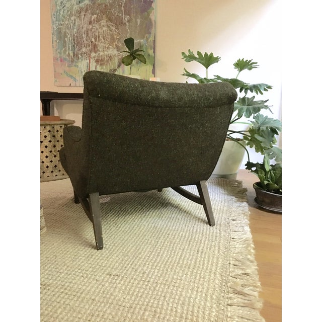 Mid-Century Modern Upholstered Lounge Chair - Image 5 of 9