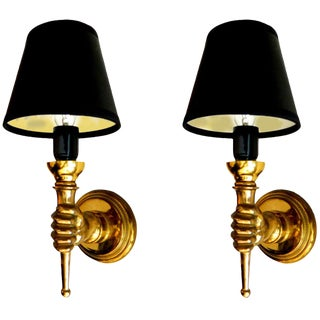 1950s Andre Arbus French Sconces - A Pair