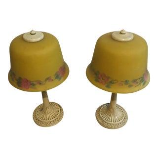 1925 Vintage Boudoir Lamps - Pair