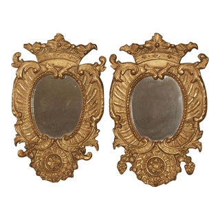 Pair of Italian Gilt Mirrors