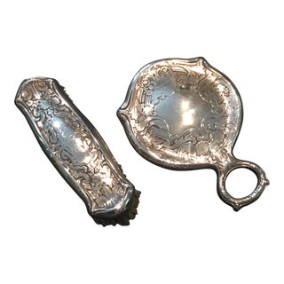 Sterling Victorian Mirror Set