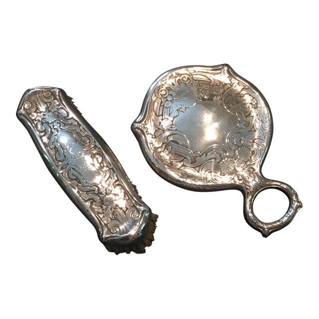 Image of Sterling Victorian Mirror Set