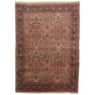Hand Knotted Wool Persian Kerman Rug - 9′9″ × 13′7