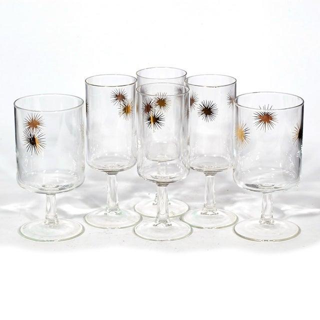 1960's Gilt Atomic Glass Stems - Set of 6 - Image 2 of 4