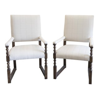 Baker Breton Dining Arm Chairs - A Pair