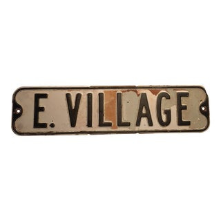 E. Village Authentic Vintage Steel Industrial Sign