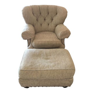 Lillian August Club Chair and Ottoman