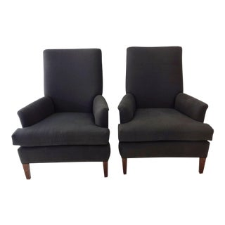 High Back Lounge Chairs - Pair