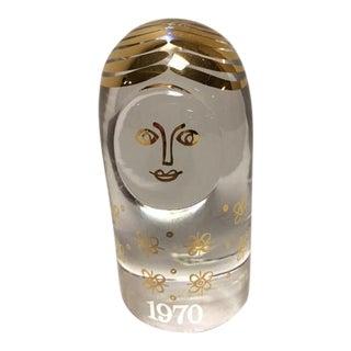 "Vintage Kosta Boda ""Mor"" Mother Glass Paper Weight"