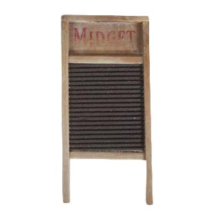 Vintage National Washboard Co. Midget Wood Metal Laundry Wash Board