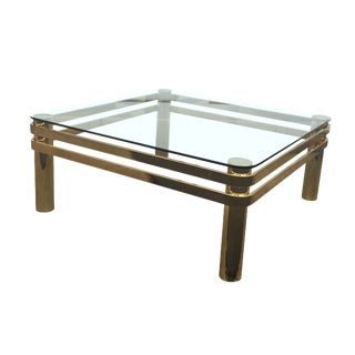 Vintage Hollywood Regency Brass Coffee Table