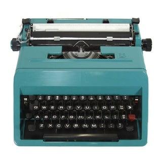 Vintage 1960s Turquoise Olivetti Typewriter