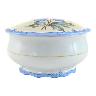 Blue Floral Porcelain Box