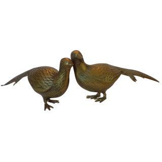 Brass Pheasants - A Pair