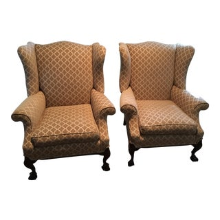 Refurbished Antique Wingback Chairs - A Pair